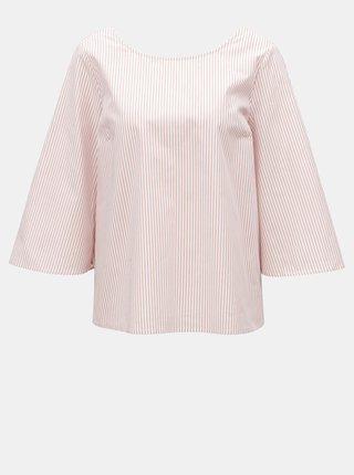 Bluza alb-roz cu model si funda la spate VILA Justy