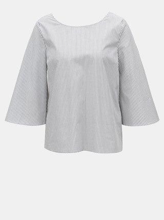 Bluza alb-gri cu model si funda la spate VILA Justy
