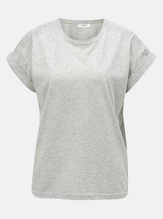 Šedé žíhané basic tričko Moss Copenhagen