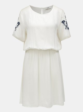 Modro-bílé šaty s výšivkou Jacqueline de Yong Eskild