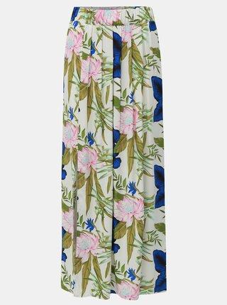 Zeleno-bílá květovaná maxi sukně ONLY Nova