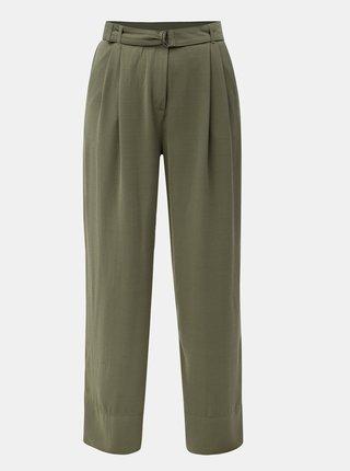 762c184f66 Zelené voľné nohavice s vysokým pásom a opaskom Jacqueline de Yong Enzo