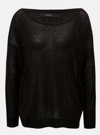 15e4e127b5d3 Čierny voľný tenký sveter s dlhým rukávom VERO MODA