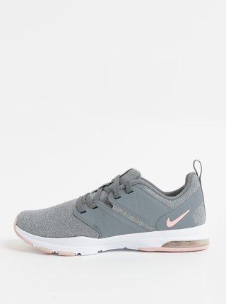 Sivé dámske melírované tenisky Nike Air Bella Training