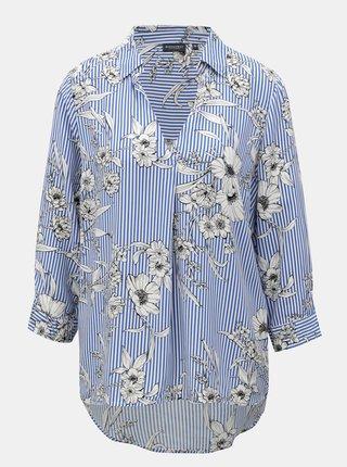 Bluza alb-albastru cu model Broadway Gosy