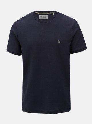 Tricou albastru inchis cu broderie discreta Original Penguin Camo logo