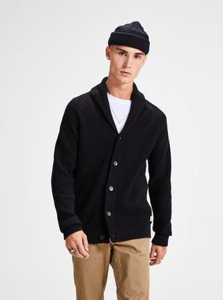 Cardigan negru Jack & Jones Knit