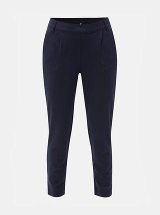 Pantaloni crop albastru inchis cu talie inalta Jacqueline de Yong Betty
