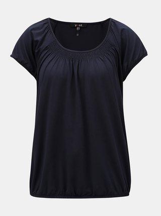 Tmavě modré tričko s krátkým rukávem Yest