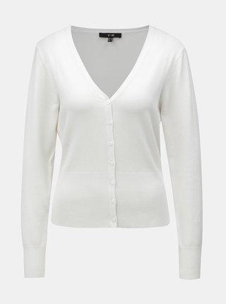 Cardigan alb cu inchidere cu nasturi Yest