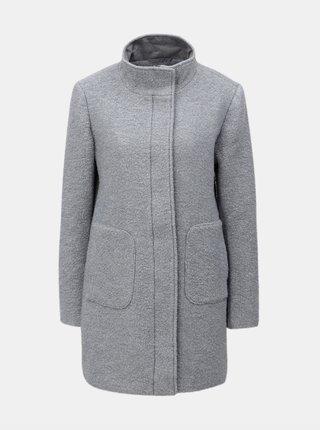 Světle šedý vlněný kabát Yest