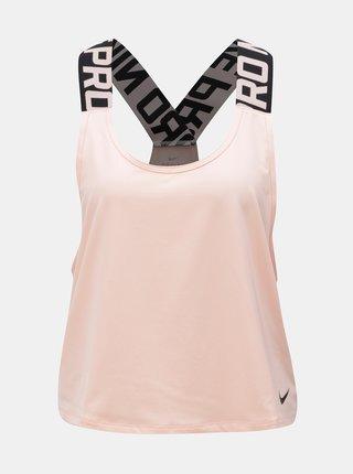 Marhuľové dámske krátke funkčné tielko Nike Pro Intertwist