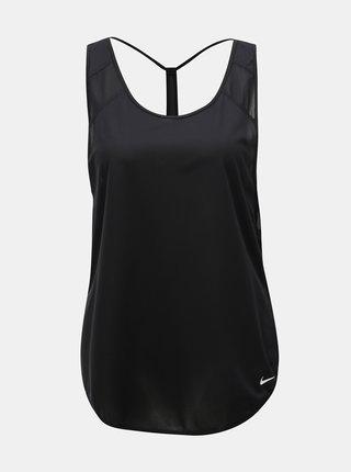 Čierne dámske štruktúrované tielko Nike Breathe Strappy