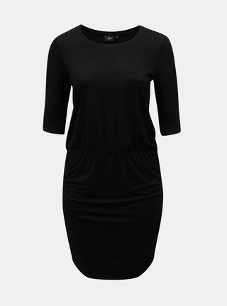 Čierne puzdrové šaty s krátkym rukávom Zizzi Ralfi