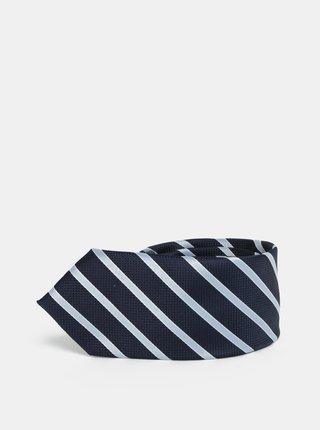 Cravata slim albastru inchis in dungi Selected Homme Vilhelm