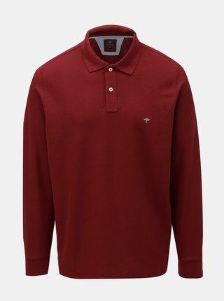 Vínové polo tričko s dlouhým rukávem Fynch-Hatton