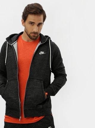 Hanorac barbatesc negru melanj cu fermoar Nike Legacy