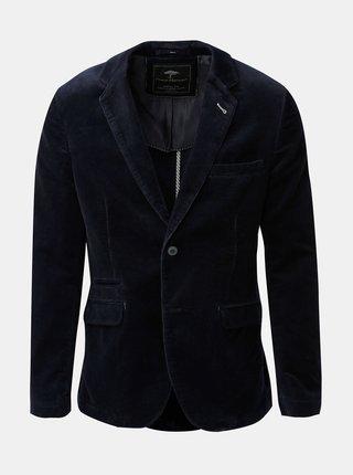 Tmavě modré casual fit manšestrové sako Fynch-Hatton