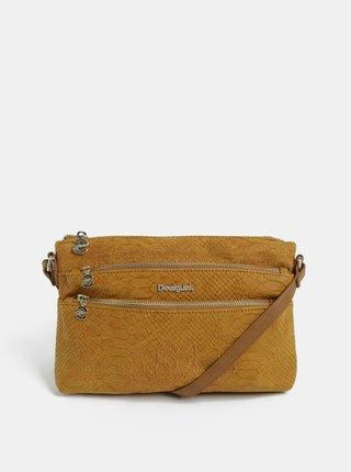 Hnedá kabelka s výšivkou Desigual Aquiles