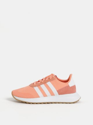 Bielo-oranžové dámske tenisky adidas Originals Runner