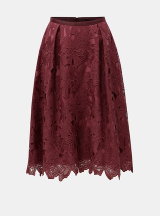 Vínová krajková sukně Dorothy Perkins