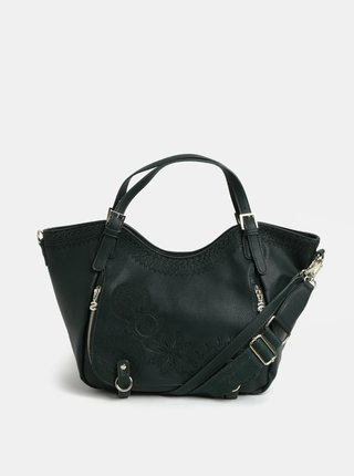 Tmavozelená kabelka s výšivkou Desigual Amber