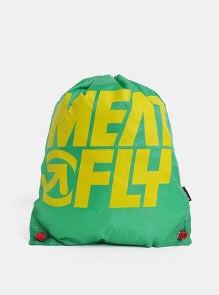 Sac verde cu print Meatfly