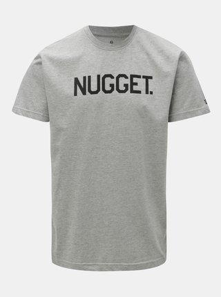Sivé pánske melírované tričko NUGGET Nugget