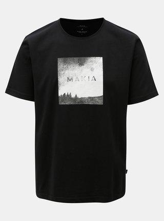 Tricou negru cu print Makia Viev