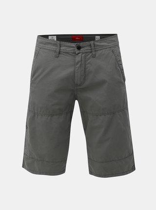 Pantaloni barbatesti scurti straight gri cu buzunare s.Oliver