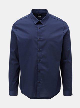 Camasa albastru inchis skinny fit Burton Menswear London