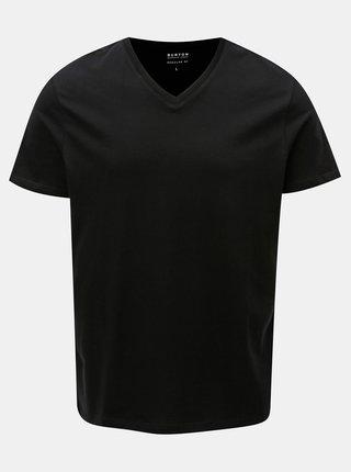 Černé basic regular fit basic tričko Burton Menswear London