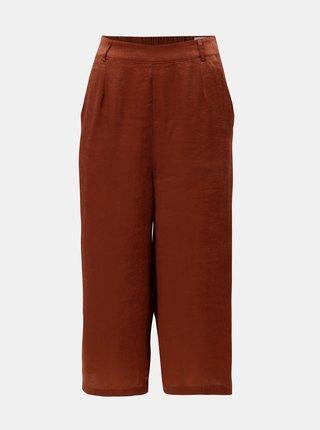 Pantaloni cullotes maro cu talie inalta ELVI
