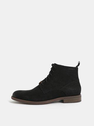 Čierne pánske kožené členkové topánky Vagabond Salvatore