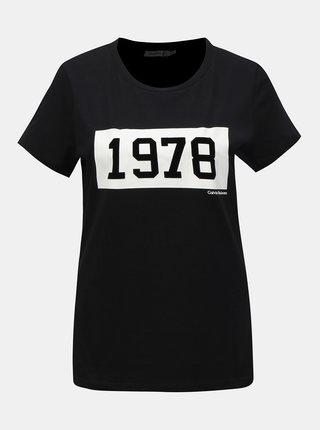 Černé dámské tričko s potiskem Calvin Klein Jeans