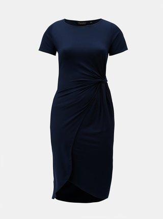 Rochie midi albastru inchis cu nod lateral Dorothy Perkins Curve