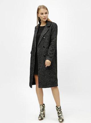 Černý žíhaný kabát VERO MODA Highland