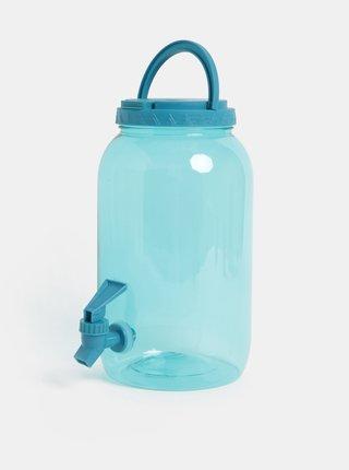 Modrá plastová transparentní nádoba s kohoutkem Kaemingk 3750 ml