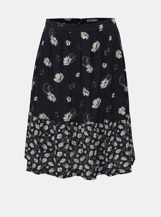 Tmavomodrá dámska kvetovaná sukňa Cath Kidston