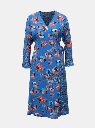 Modré vzorované zavinovacie šaty Cath Kidston