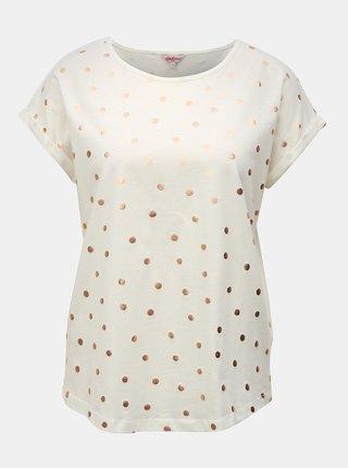 Krémové dámske voľné bodkované tričko Cath Kidston