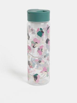 Plastová fľaša s filtrom na ovocie a zeleným viečkom Cath Kidston 700 ml