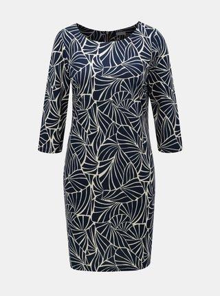 97014c671 Modré vzorované šaty s 3/4 rukávom VILA Tinny