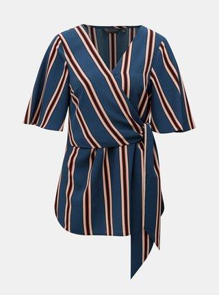 Modrá pruhovaná blúzka Dorothy Perkins Tall