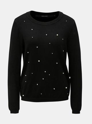 Černý lehký svetr s korálkovou aplikací VERO MODA