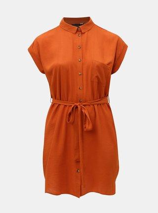 Rochie tunica oranj Dorothy Perkins Curve