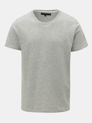 Šedé vzorované tričko SUIT Bayswater
