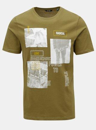 dbdde3ccb527 Kaki tričko s potlačou ONLY   SONS