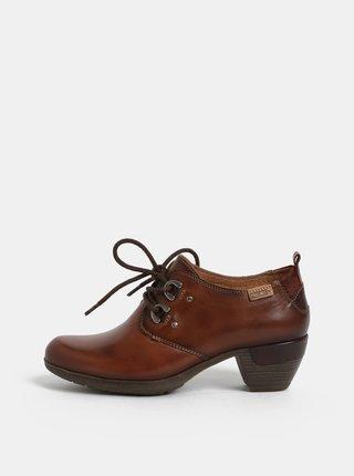 Pantofi maro din piele naturala Pikolinos Cuero
