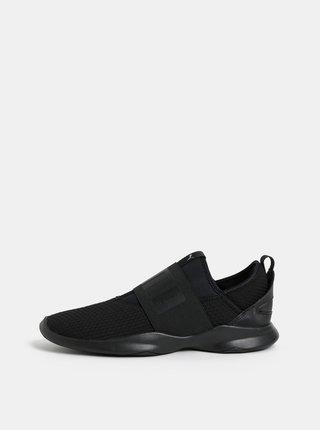 Pantofi slip on negru de dama cu model si banda elastica lata Puma Dare